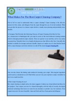 What Makes For The Best Carpet Cleaning Company?