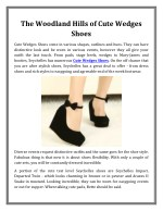 The Woodland Hills of Cute Wedges Shoes