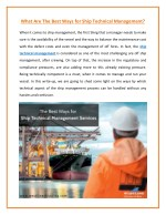 Enhance Operational Efficiency with Proper Ship Technical Management