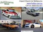 Import Classic Car Melbourne