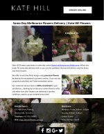Same Day Melbourne Flowers Delivery | Kate Hill Flowers