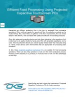 Efficient Food Processing Using Projected Capacitive Touchscreen PCs