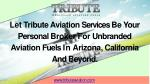 Tribute aviation product and services