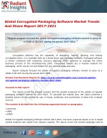 Global Corrugated Packaging Software Market Trends And Share Report 2017-2021