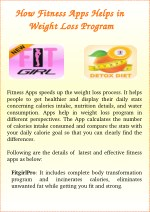How Fitness Apps Helps in Weight Loss Program