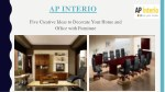 Best Modular Furniture for Your Home and Office – AP Interio