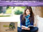 MGT 557 HELP Marvelous Learning / mgt557help.com