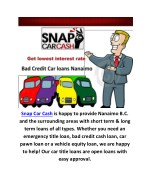 Bad Credit Car loans Nanaimo