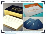 Metallic Gold foil business cards | 700gsm