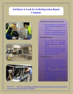 Attributes to Look for In Refrigeration Repair Company