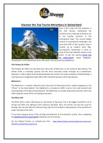 Discover the Top Tourist Attractions in Switzerland
