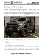 Benefits of an F150 Winch Bumper