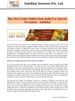 Buy Dry Fruits Online from India For Special Occasions - Salebhai