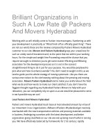 Brilliant Organizations in Such A Low Rate @ Packers And Movers Hyderabad