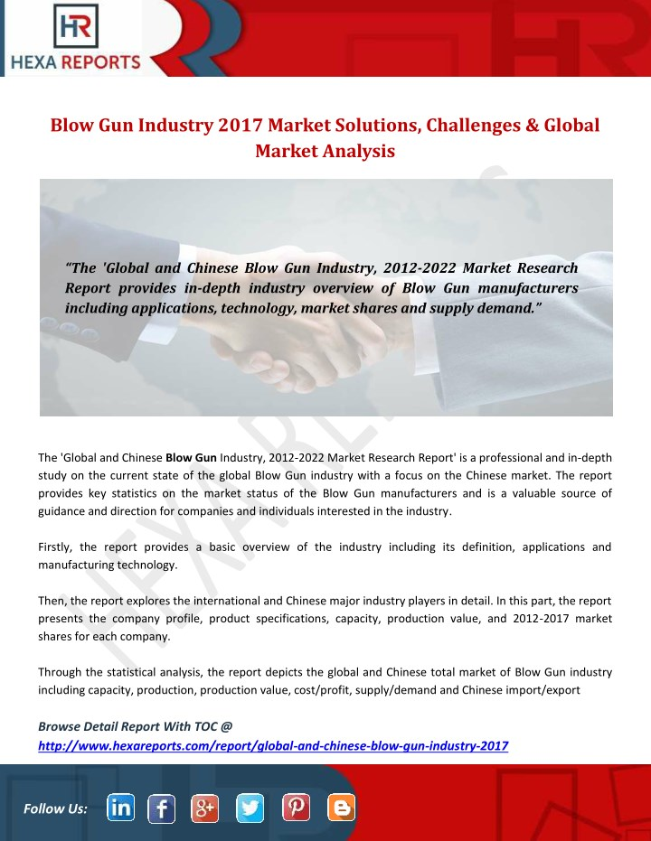 blow gun industry 2017 market solutions n.
