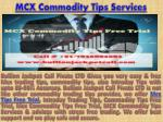 Mcx Commodity Tips Free Trial | MCX Commodity Tips Services in Commodity Market