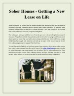 sober living housing