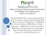 2 BHK Residential Projects in Greater Noida West | Navgrih Buildwell