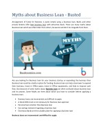 Myths about Business Loan - Busted