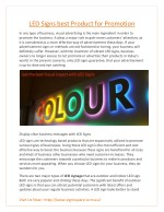 LEDSigns best product for Promotion