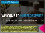 Hire SEO Expert Services uk