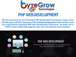 Outstanding PHP Web Development Company in Jaipur | Bytegrow Technologies