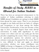 Benefits of Study MBBS in Abroad For Indian Students