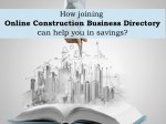Join Online Construction Business Directory And Increase Your Savings