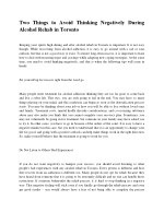 Two Things to Avoid Thinking Negatively During Alcohol Rehab in Toronto