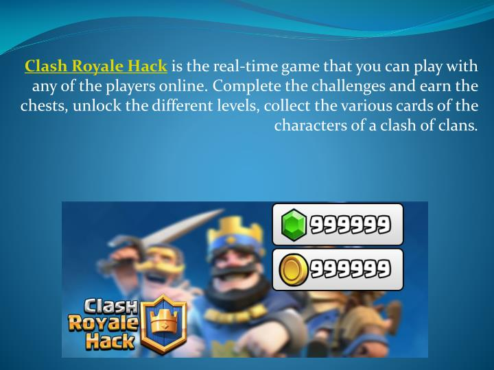 PPT - CLASH ROYALE HACK FREE GEMS, GOLDS PowerPoint
