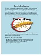 Termite Eradication