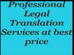 Professional Legal Translation Services at best price