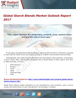 Global Starch Blends Market Outlook Report 2017