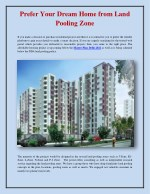 Prefer Your Dream Home from Land Pooling Zone