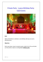 Private Party - Luxury Birthday Party: G&D Events