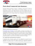 Facts about Commercial Auto Insurance