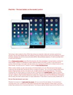 iPad Hire – The best tablets on the market London