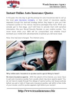 Instant Online Auto Insurance Quotes