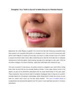 Straighten Your Teeth in Secret! Invisible Braces for Reliable Results