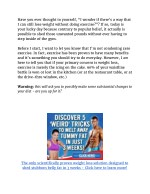 How To Lose Weight Without Doing One Minute Of Exercise
