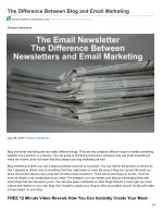 The Difference Between Blog and Email Marketing