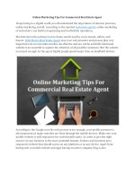 Online Marketing Tips For Commercial Real Estate Agent