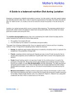 A Guide to a balanced nutrition Diet during Lactation