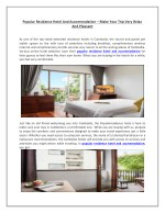 Popular Residence Hotel and Accommodation