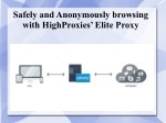 Safely and Anonymously browsing with HighProxies' Elite Proxy