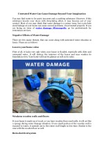 Water Damage Bloomigton MN and Minneapolis