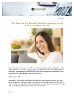 Top Reasons You Should Schedule an Appointment With a Cosmetic Dentist
