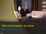Best Office Chair Suppliers Abu Dhabi