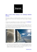 What to Look For When Choosing an Air Conditioning Installation Melbourne