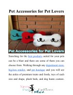 Pet Accessories for Pet Lovers